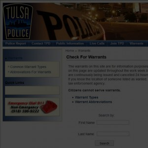 Tulsa Warrant Search - Signature Bail Bonds of Tulsa
