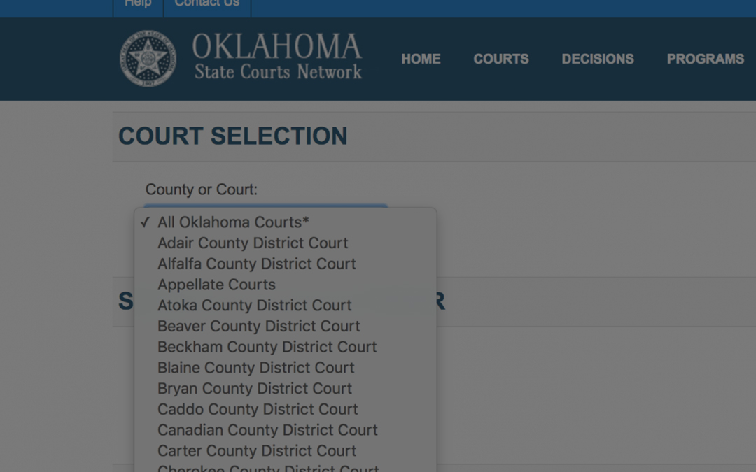 Oklahoma Court Record Research