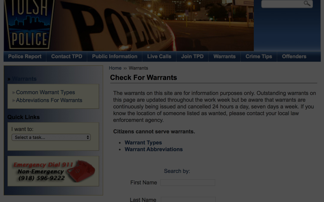 How To Clear a Tulsa Warrant