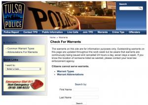Tulsa Warrant Surrender