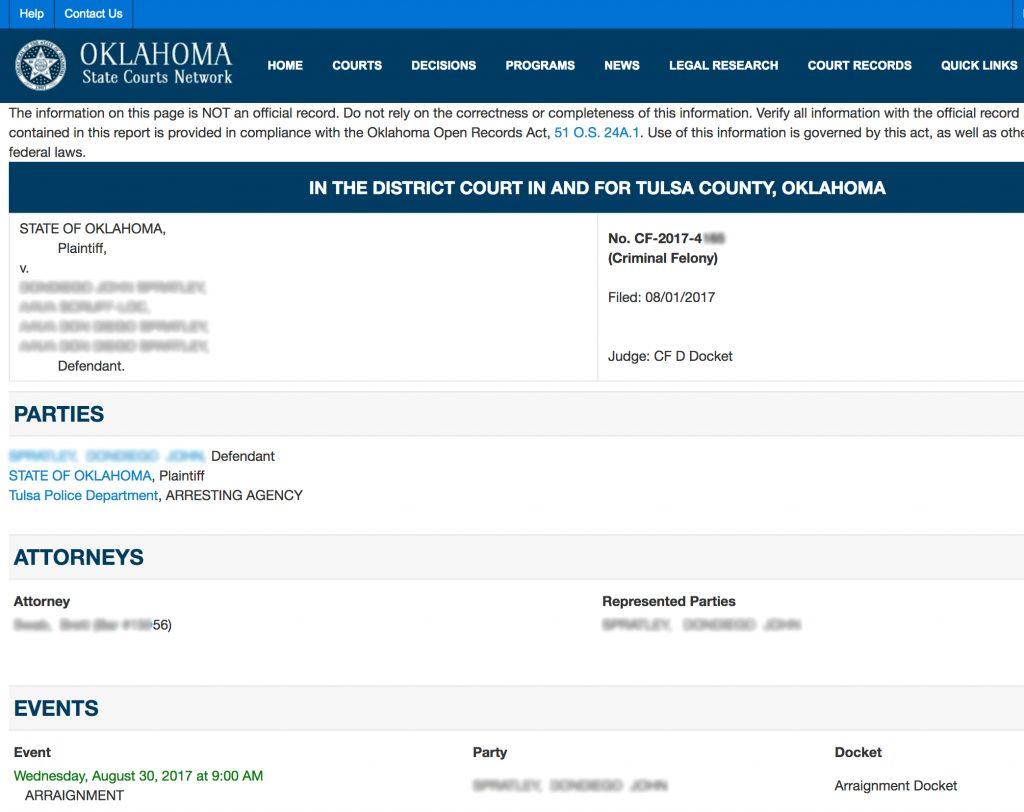 Search Tulsa Court Record   Result