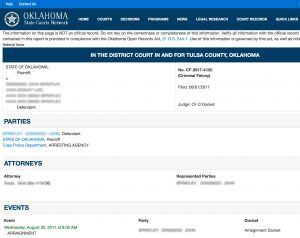 Search Tulsa Court Record | Result